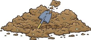 Digging hole on a white background vector illustration